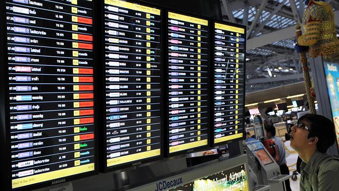 Электронное табло аэропорта